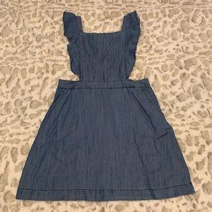 Skies are Blue brand denim ruffle dress